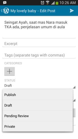Status wordpress